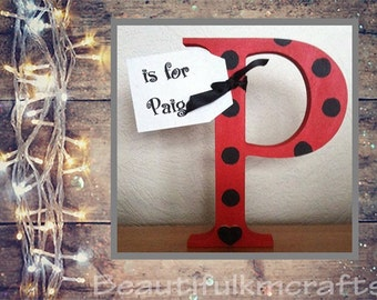 Handpainted wooden letters - made to order