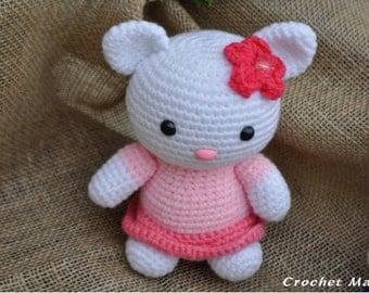 Pink Crochet Hello Kitty