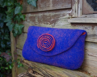 Handmade Felt Wool Hand Purse