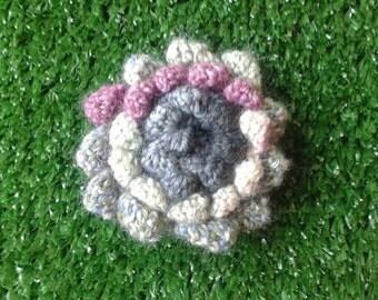 Sunflower Knitted Brooch