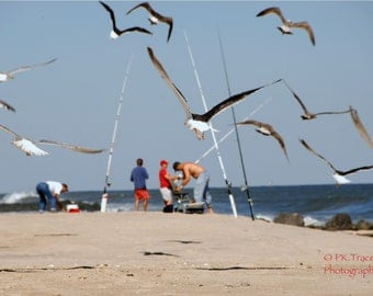 Items similar to surf fishing at the beach on etsy for Surf fishing nj license