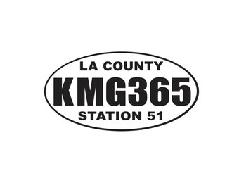 KMG365, Squad 51, Emergency TV Show, Engine 51, TV Collectible, Emergency Decal, Fire Fighter, fireman, Decals, Stickers, Retro, Vintage, TV