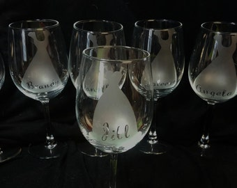 Bridemaid Wine Glass