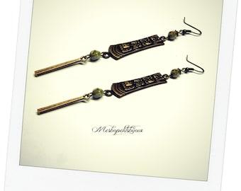 long earrings ethnic style