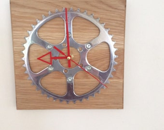 Oak clock with TA chainring face.