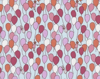 Michael Miller - Sarah Jane - Children at Play Collection - Balloons in Aqua - 100% Cotton Fabric by the Yard - You Choose Your Cut