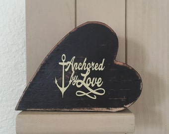 Rustic heart ancored