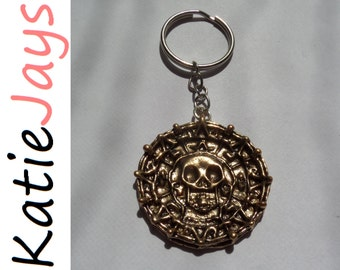 pirates of the caribbean curse black pearl dead mans chest gold coin keyring jack sparrow charm figure katiejays katie jays