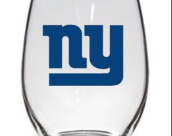 Customizable NY Giants glass