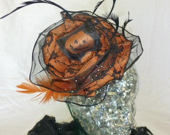 Jack o'lantern Fall Halloween fascinator headband