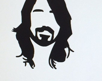 Dave Grohl, Foo Fighters Vinyl Decal, choose from 4 sizes/ several colors! Walls, Windows etc