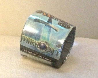 Mirrodin MTG Insulated Coffee Cup Sleeve -- Worldslayer -- Made With Recycled Booster Pack Wrappers!