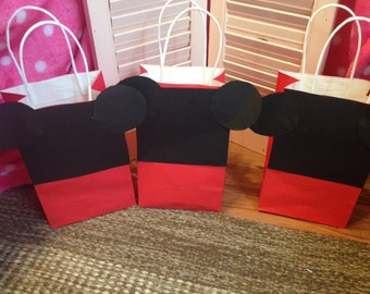 SET of 10 Mickey/Minnie favor bags