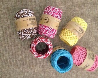 coloured paper Twine for packaging gift boxes
