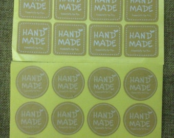 adhesive labels hand made