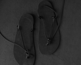 "walking leather sandal huarache ""sumibeta"" Vibram sole"