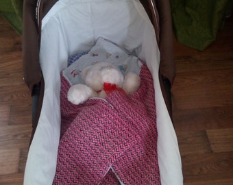 Envelope blanket for baby, woven baby blanket