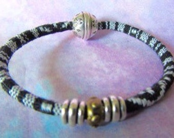 Black and White Ethnic Bracelet