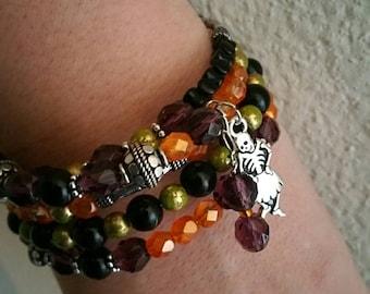 0114-Halloween Beaded Bracelet