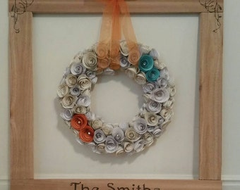 Custom wedding wreath