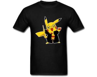 Pikachu Harry Potter Pokemon Men's T-Shirt HarryPika Hogwarts Gryffindor Hermione Ron