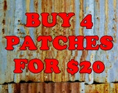 BUY Any 4 Patches For 20 Dollars Iron On Patch Offer Fabric Wholesale Bulk Embroidered Music Kids Metal Street Wear Clothing Jacket Logo