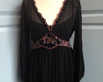 Size 8: Beautiful vintage boho dress
