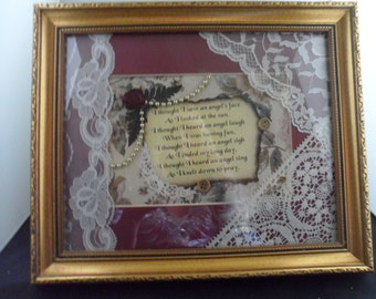 Angel Face Quote Poem Picture Frame