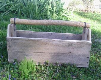 Handmade wooden tool box