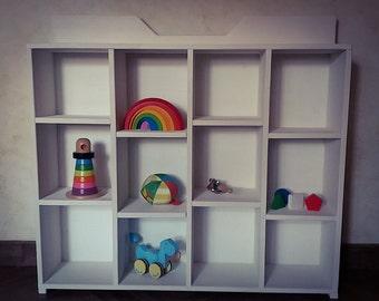 Montessori storage unit White spruce Little Prince