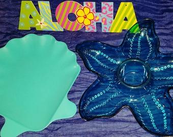 Stunning Starfish Seashell Serving Set