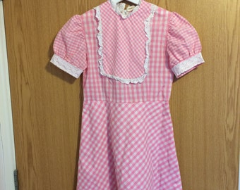 Bubblegum Pink Gingham Dress
