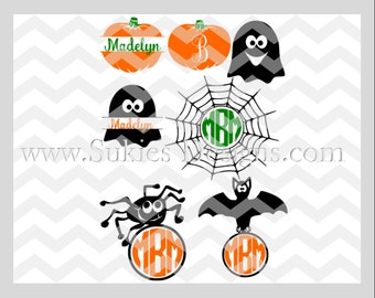 Halloween MonogramSVG File For Cricut and Cameo DXF for Silhouette Studio Cutting File Monogram svg, Halloween svg, Fall svg, Fall Monogram
