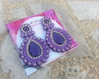 Soutache glam earrings