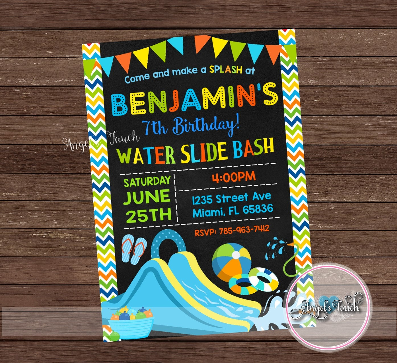 Princess Moana Pool Party Invitation, Princess Moana Pool Birthday ...