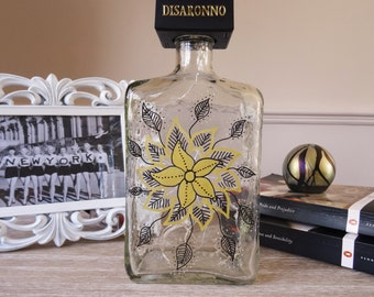 Decorated Dissarono bottle with lights