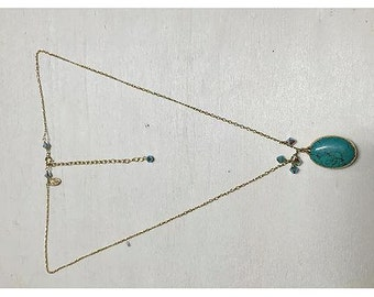Swarovski Crystal and Turquoise Pendant Necklace