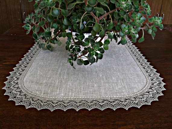 36 39 39 x 18 39 39 lace and linen table runner rustic for Table runners 52 inches