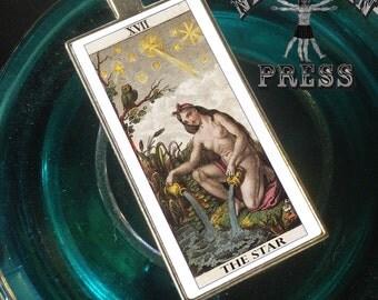 Tarot Card, The Star, Funky Chunky Statement Pendant