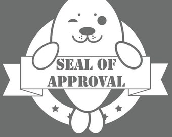 Seal of Approval Window Decal
