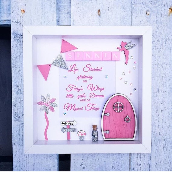 Fairy door frame personalised gift for her little for Bedroom gifts for her