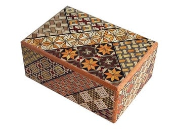 14 Step Japanese Puzzle Box Secret Yosegi Hakone 4 Sun Trick Opening Crafted M Famous Souvenirs