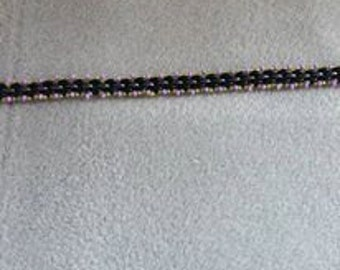 Cute beaded bracelet with beaded toggle clasp