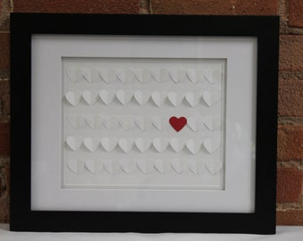 Wedding Guest Alternitive Framed Hearts