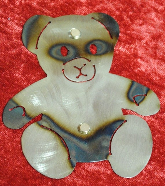 Teddy Bear, Wall Hanging, Magnet, Kids Room Decor, Refigerator