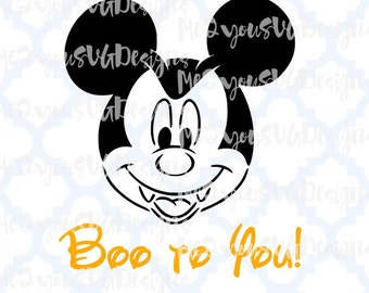 Mickey Vampire Boo to You SVG,EPS,PNG,Studio