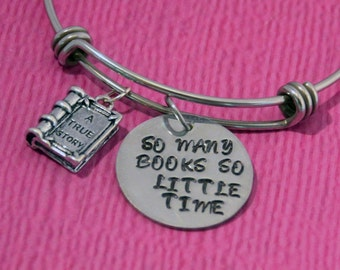 Gifts for Readers | Reader Gift | Book Bracelet | Book Jewelry | Readers | Gifts for Librarians | Librarian Gift | Book Lover Jewelry | Book