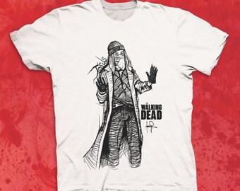 Walking Dead Jesus Sketch Character T-shirt TWD