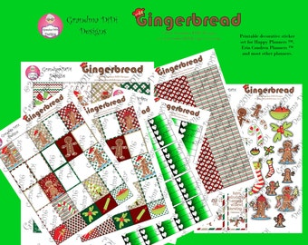 Top seller! Gingerbread Stickers