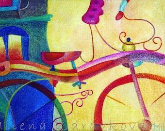 A Friend, signed and dated art print by Milena Zdravkova, MilesofjoyStudio.